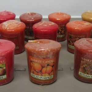 13 Yankee Candle Votives in Fall Scents!